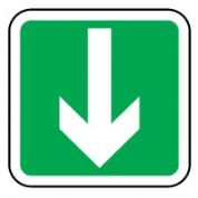 Safe Safety Sign - Arrow Down 034